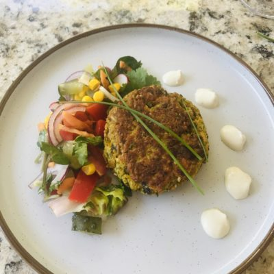vegan pea burger